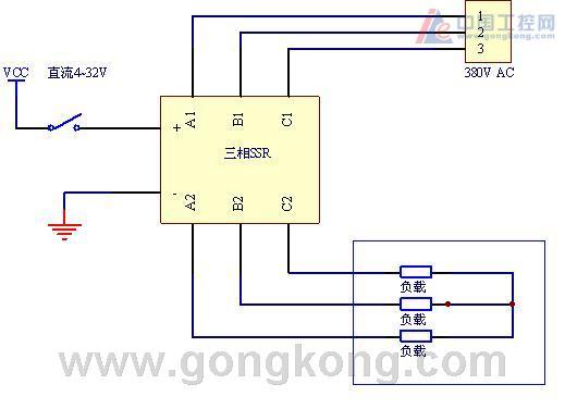 固态继电器控制三相加热