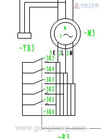 转子串三相不对称电阻电路