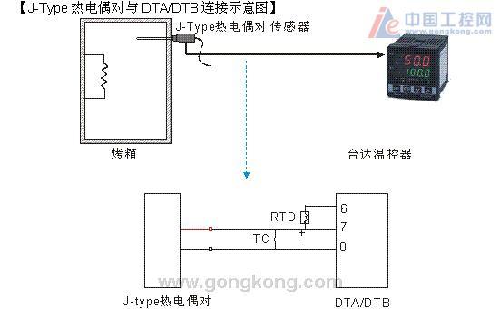e热电偶与台达温控器接线图图片