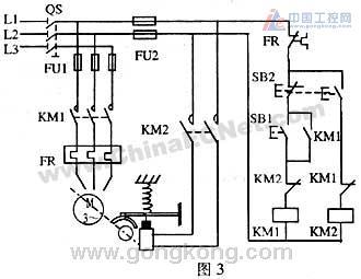 (1)电磁抱闸断电制动控制电路