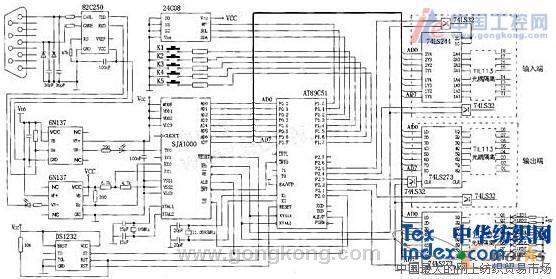 柴油发动机试车台can总线智能节点电路原理图
