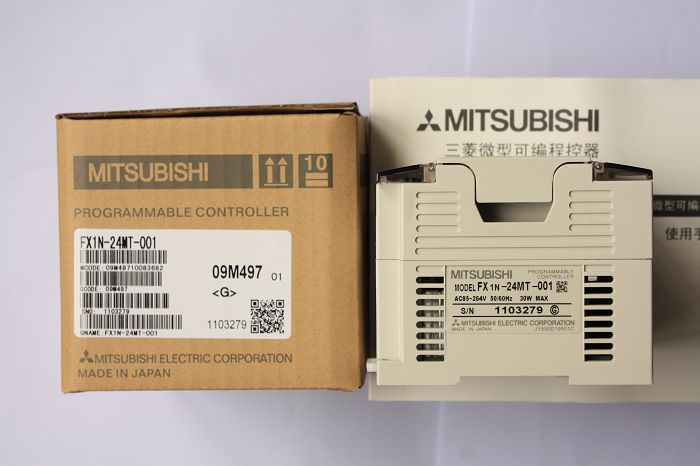 三菱plcfx1n系列-三菱可编程控制器fx1n-24mr/mt-001
