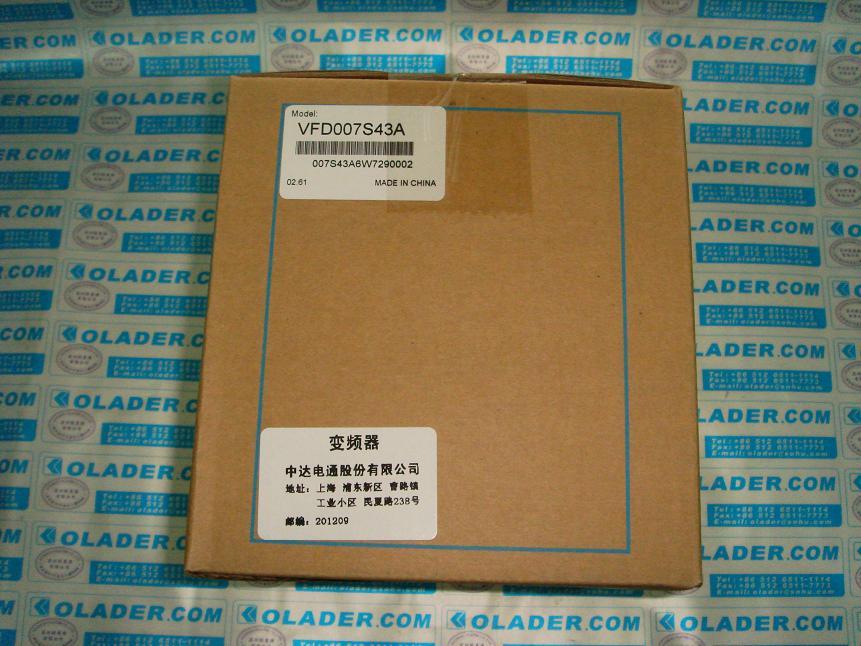 中达电通台达变频器安徽总代理,VFD015B43A,VFD007B43A